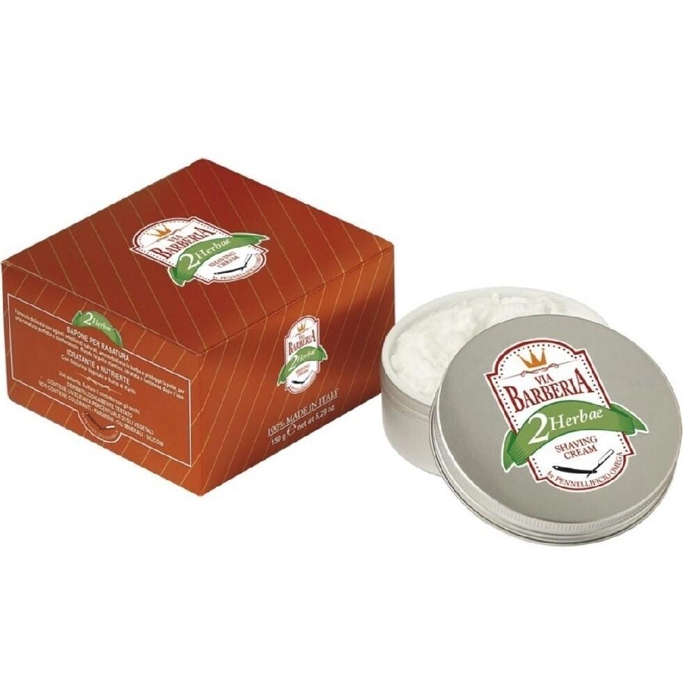Via Barberia Herbae Shaving Cream - Крем для бритья в чаше 125 мл