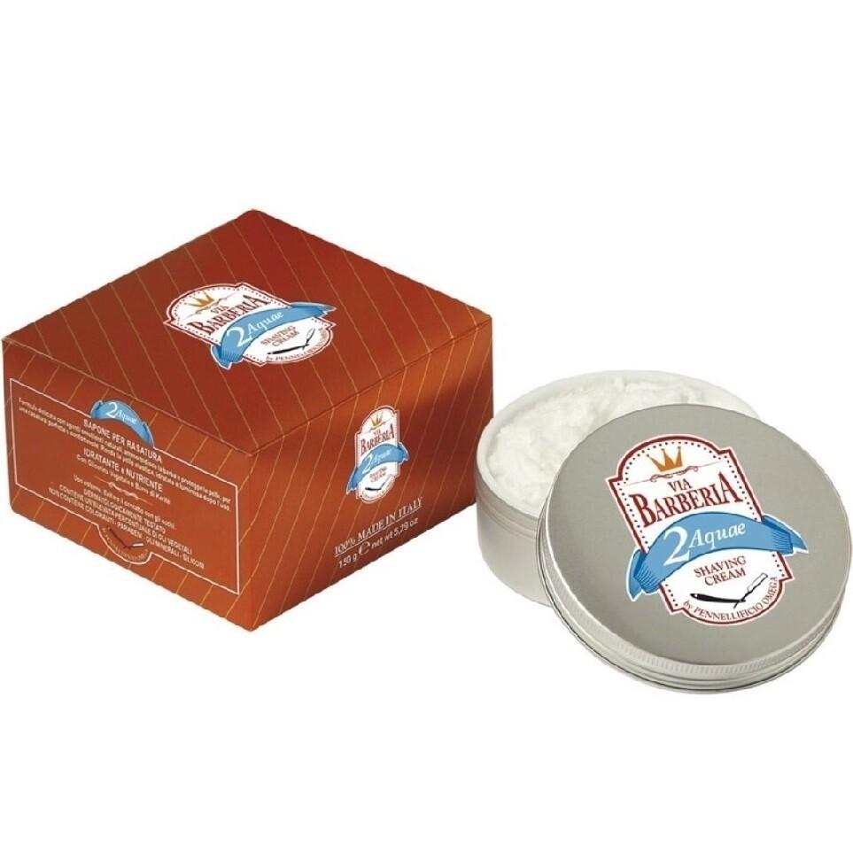 Via Barberia Aquae Shaving Cream - Крем для бритья в чаше 125 мл