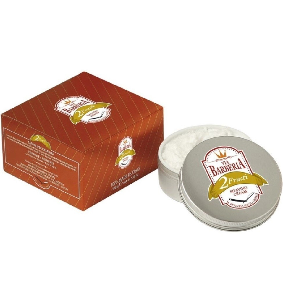 Via Barberia Fructi Shaving Cream - Крем для бритья в чаше 125 мл