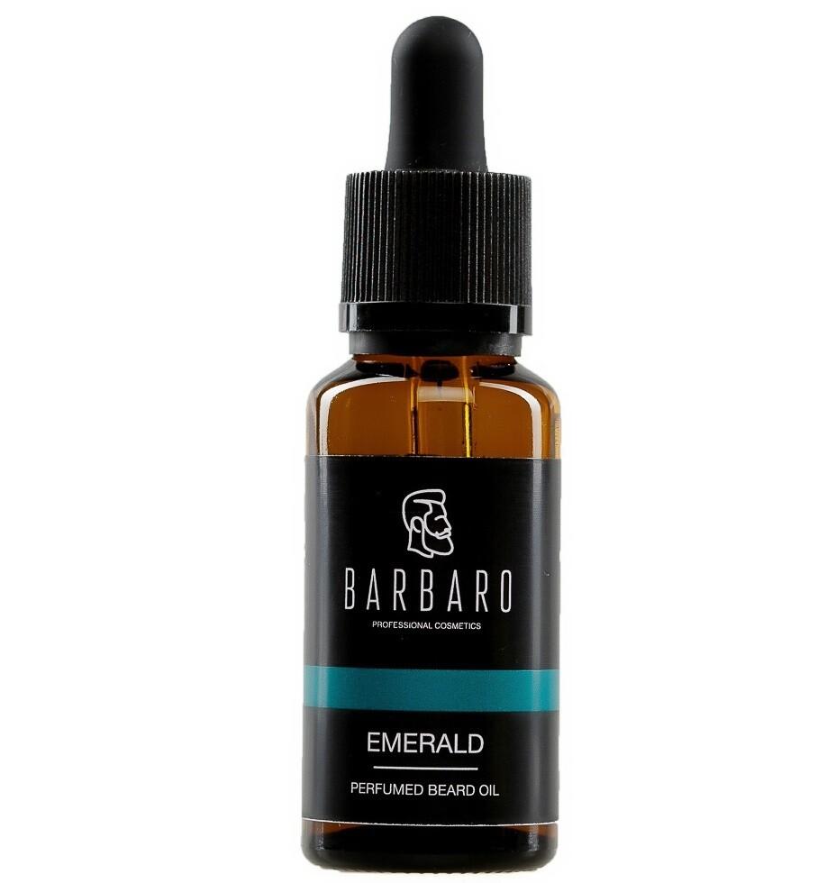 Barbaro Beard Oil Emerald - Парфюмированное масло для бороды 30 мл