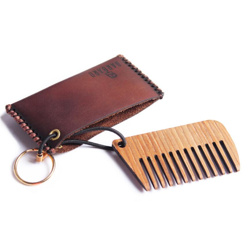 Barbaro - Гребень для бороды в кожаном чехле