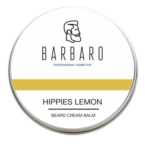 Barbaro Beard Balm Hippies lemon - Крем-бальзам для бороды Хиппи-Лимон 50 мл
