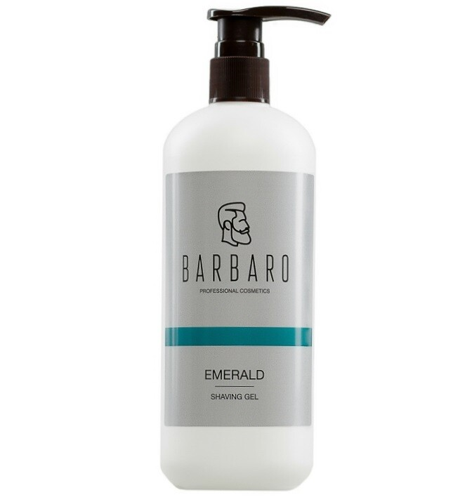 Barbaro Shaving Gel Emerald - Непенящийся прозрачный гель для бритья 500 мл