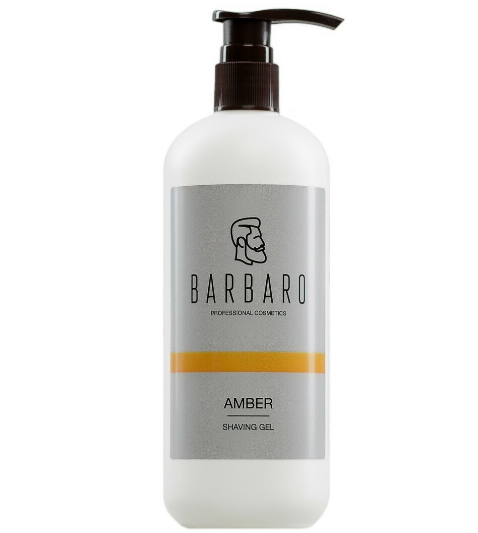 Barbaro Shaving Gel Amber - Непенящийся прозрачный гель для бритья 500 мл