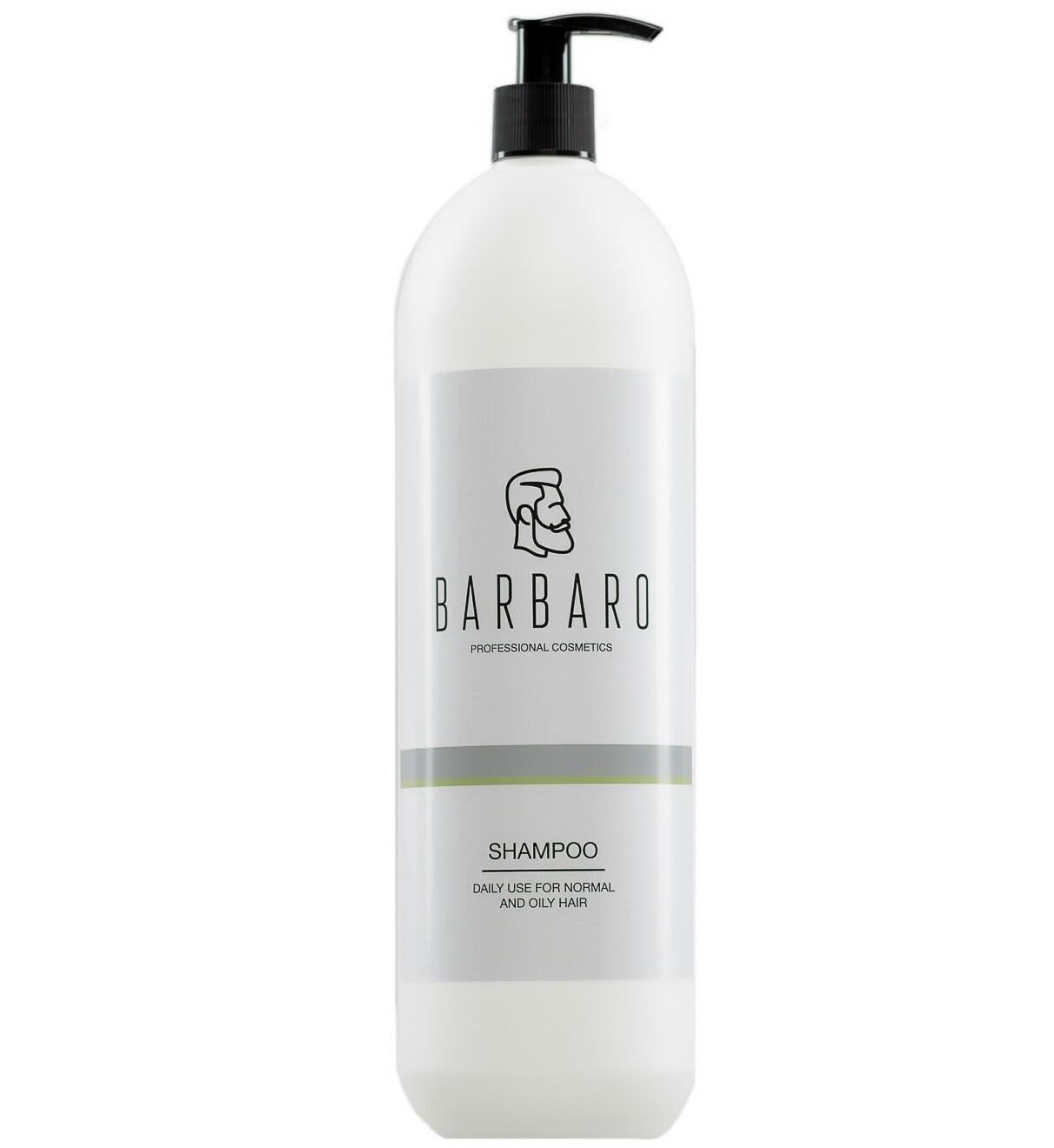 Barbaro Shampoo Daily Use - Шампунь для ежедневного ухода за нормальными и жирными волосами 1000 мл