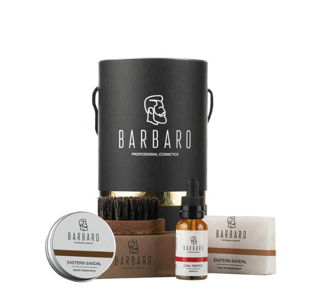 Barbaro Gift Box - Набор для роста бороды в брендированном тубусе
