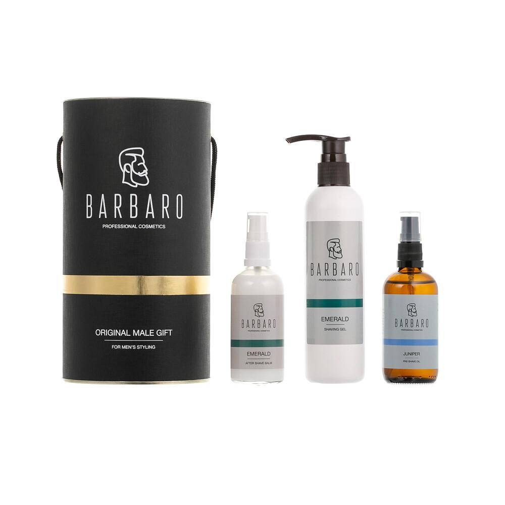 Barbaro Gift Box SHAVE №2 - Набор для бритья в брендированном тубусе