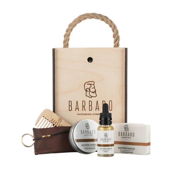 Barbaro Beard Set - Подарочный набор для ухода за бородой в деревянном боксе
