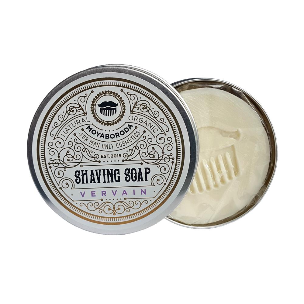 """Moyaboroda Органическое мыло для бритья """"VERVAIN"""" (охлаждающее). (60 ±10)гр"""