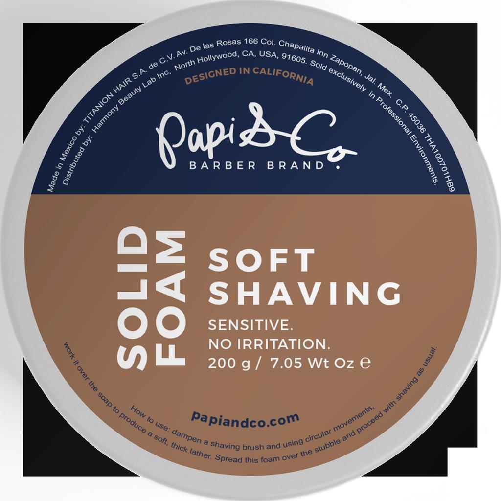 Papi & Co Solid Foam - Твердая пена для бритья 200 гр