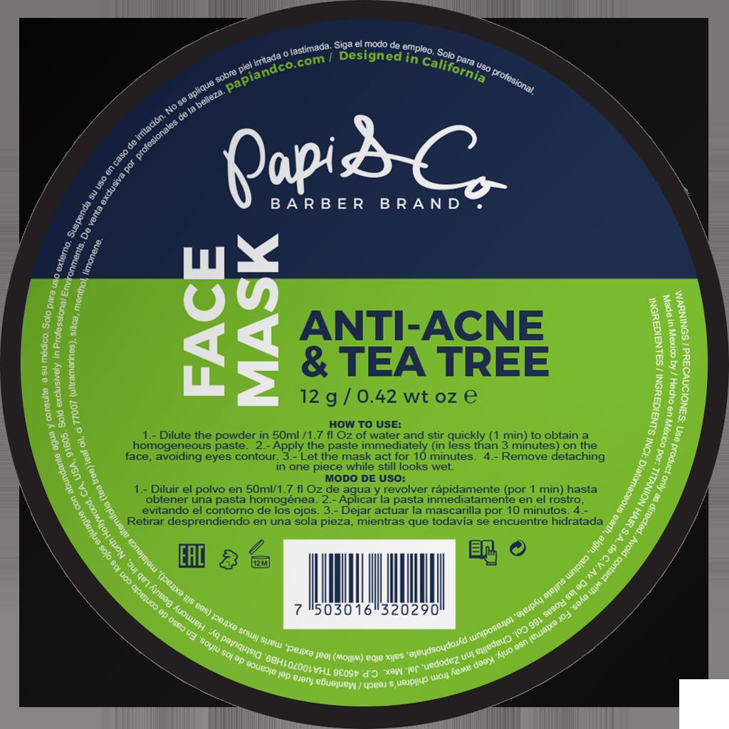 Papi & Co FACE MASK ANTI ACNE & TEA TREE - Маска для проблемной кожи лица с чайным деревом 12г