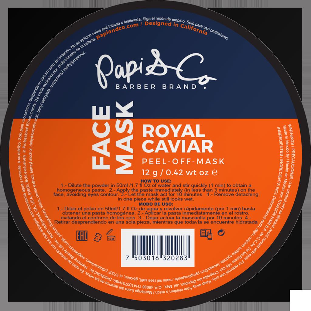 Papi & Co FACE MASK ROYAL CAVIAR - Увлажняющая и питательная маска для лица с королевской икрой 12г