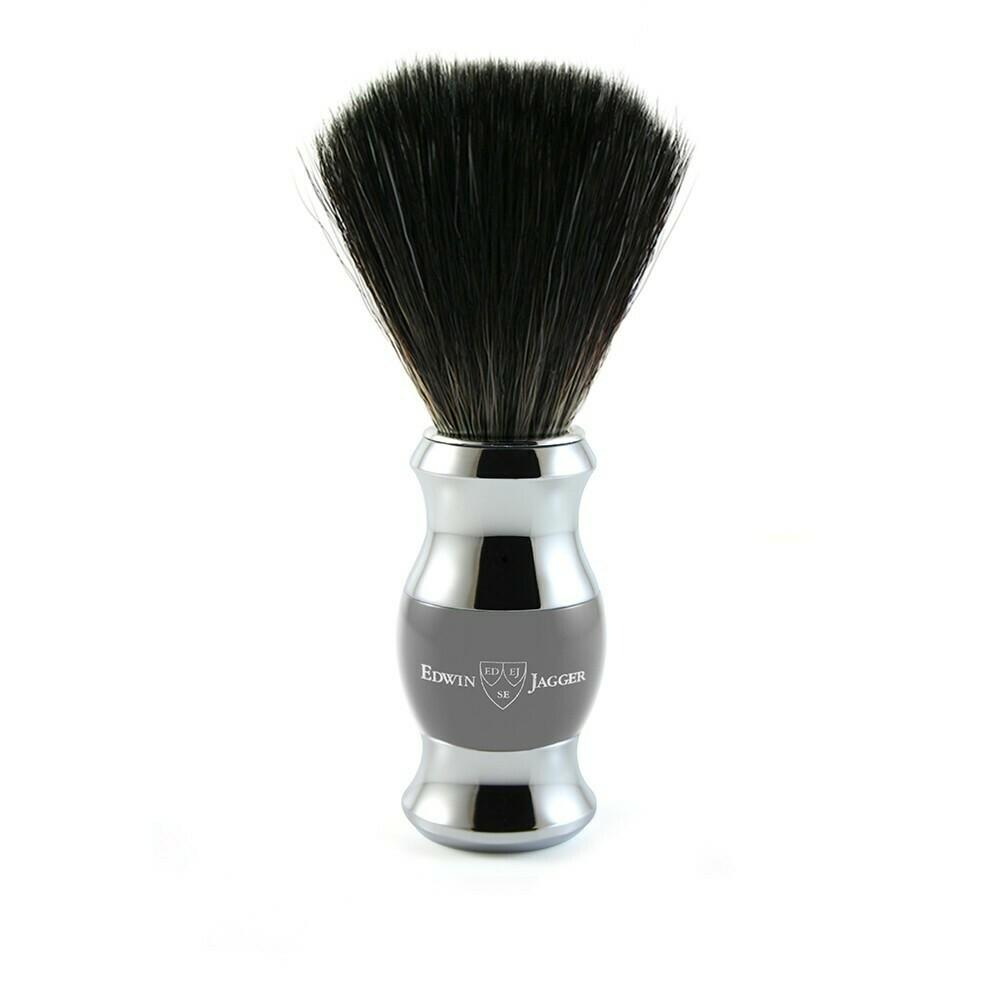 Edwin Jagger 21SB365CR - Помазок темно-серый искусственный ворс
