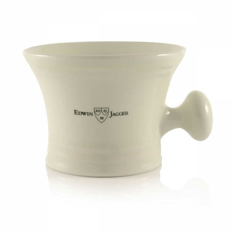 Edwin Jagger RN47 - Чаша для бритья слоновая кость фарфор с ручкой