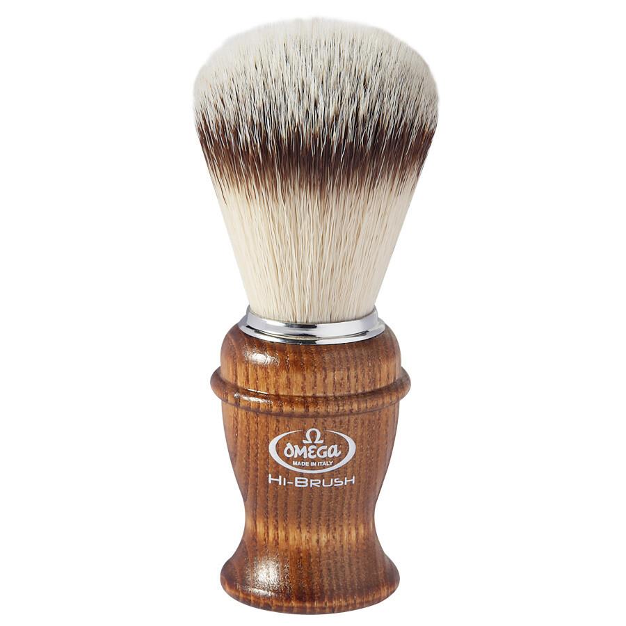 Omega 146138 - Помазок для бритья Ворс синтетика Дерево
