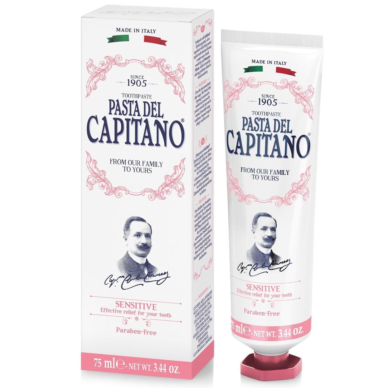Pasta del Capitano Sensitive Toothpaste - Зубная паста для Чувствительных зубов 75 мл