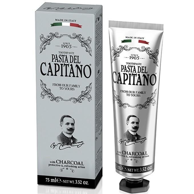 Pasta del Capitano 1905 Charcoal - Зубная паста Древесный уголь 75 мл