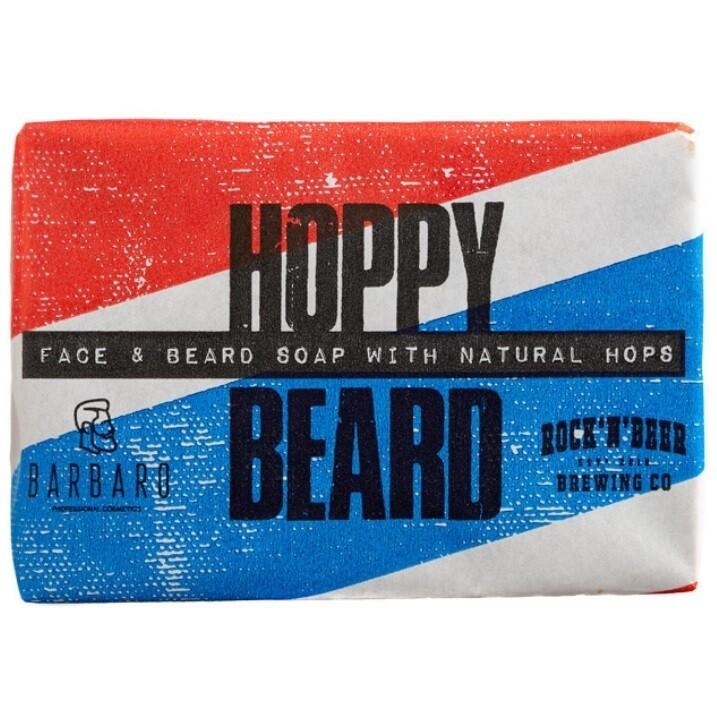 Barbaro Hoppy Beard Face & Beard Soap With Naturals Hops - Мыло для бороды и лица Хмельное 90 гр