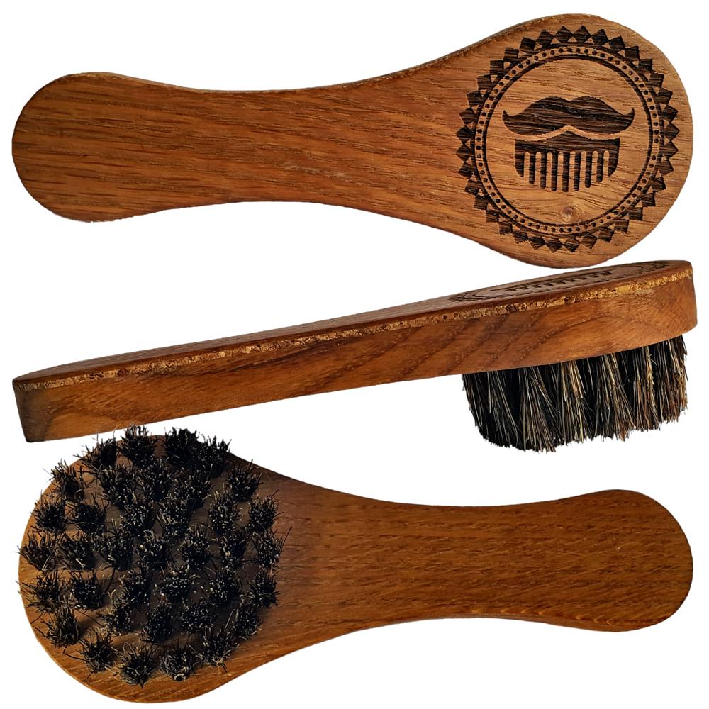 MOYABORODA Щетка для бороды и усов №2 с ручкой (ручная работа)