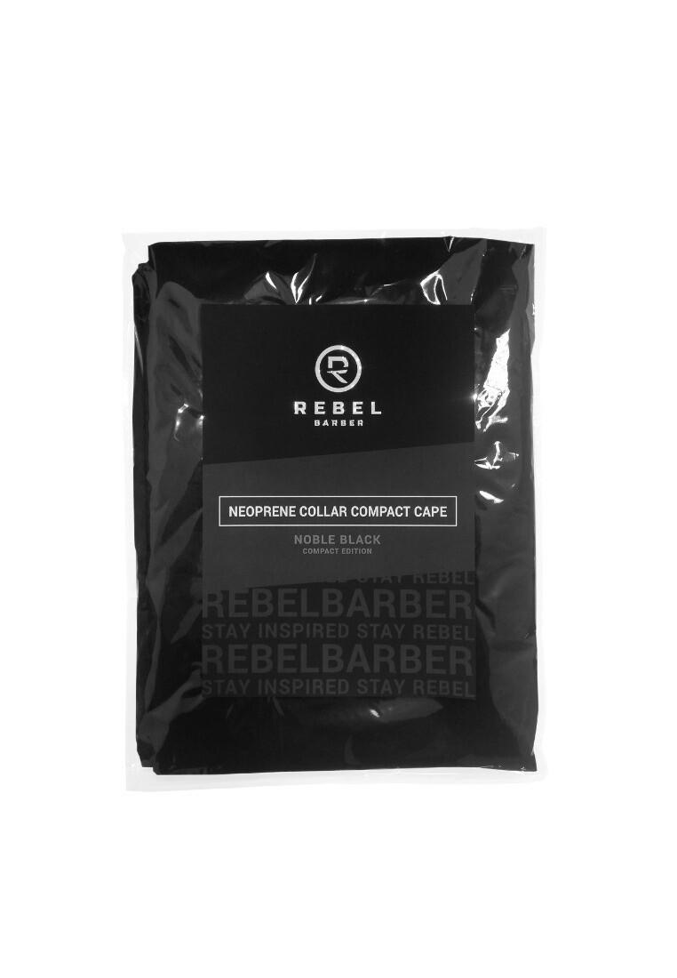 Rebel Barber Noble Black Compact Edition - Пеньюар с неопреновым воротником