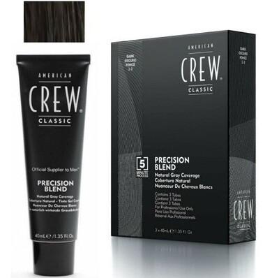 American Crew Precision Blend - Краска для седых волос темный оттенок 2/3, 3х40 мл