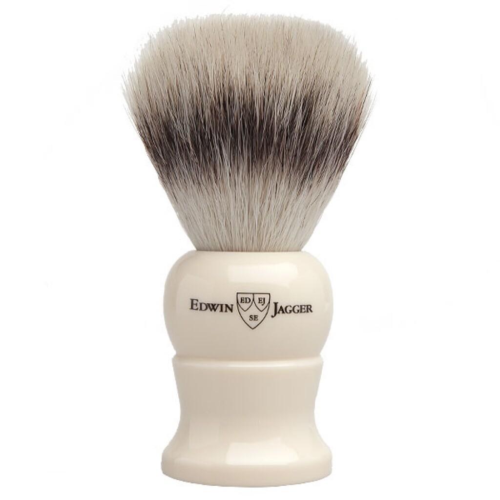 Edwin Jagger 1EJ287SYNST - Помазок слоновая кость искусственный ворс