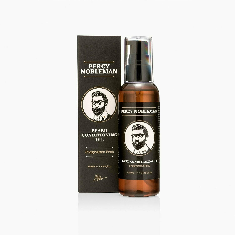 Percy Nobleman Beard Oil Fragrance Free - Масло для бороды Без запаха 100 м