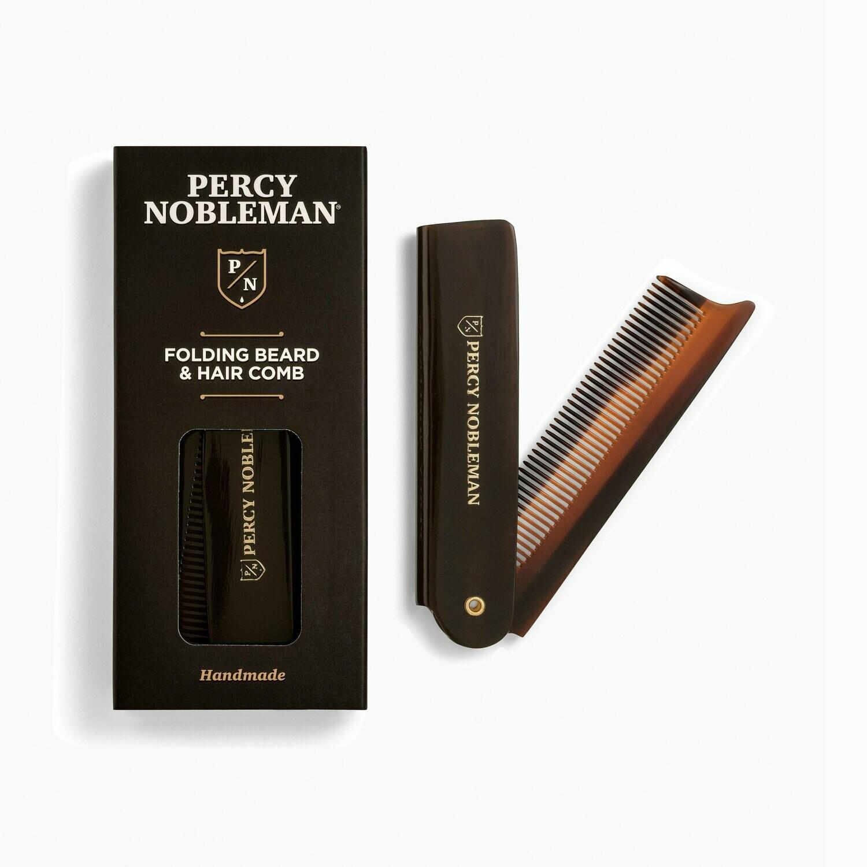 Percy Nobleman Folding Beard Comb - Складная расческа для бороды