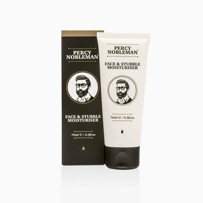 Percy Nobleman Face & Stubble Moisturiser - Увлажняющее средство для лица и щетины 75 мл