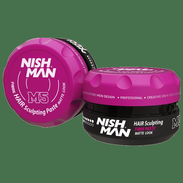 NISHMAN Fibre Paste Matte Look M5 - Паста для волос матовая, сильная фиксация 100 МЛ