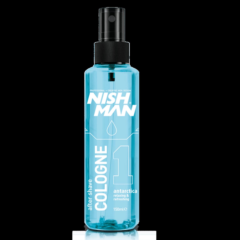 NISHMAN 01 AFTERSHAVE COLOGNE ANTARCTICA - Одеколон после бритья лосьон  150 МЛ