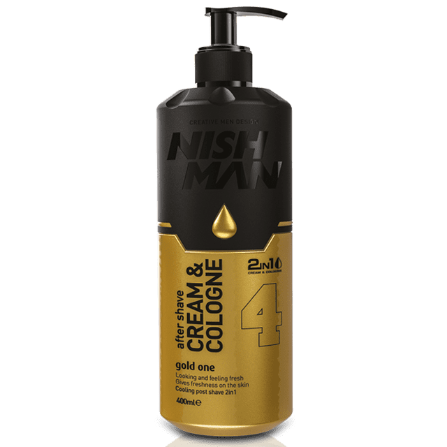 NISHMAN 04 AFTER SHAVE CREAM COLOGNE 2IN1 GOLD ONE - Крем после бритья 200 МЛ