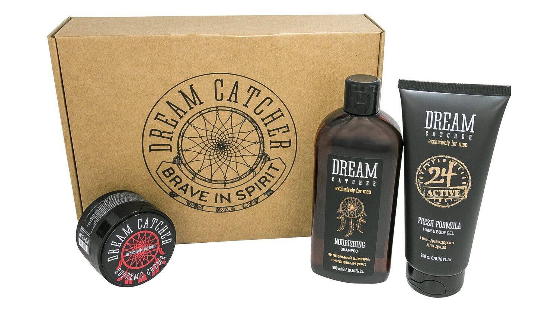 Dream Catcher - Подарочный набор №2  - Питательный шампунь, гель для душа, крем для волос
