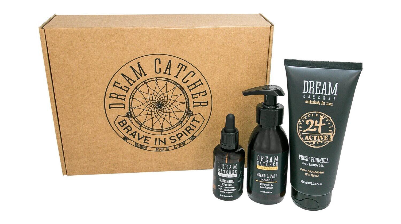 Dream Catcher - Подарочный набор №3 - Шампунь для бороды, масло для бороды, гель для душа