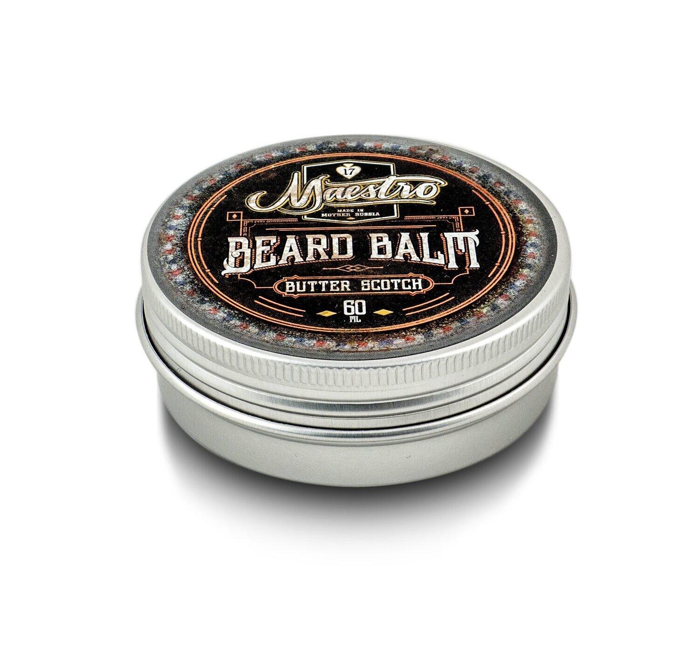 Maestro Beard Balm Butter Scotch - Бальзам для бороды Виски 60 мл