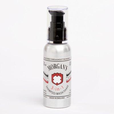 MORGAN'S 3 in 1 shampoo/wash/shave - 3 в 1 Шампунь, гель для душа, средство для бритья 100 мл