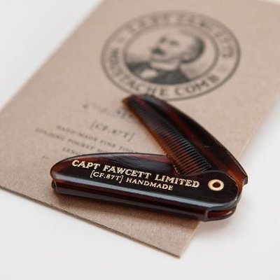 Расческа для усов Captain Fawcett Folding Pocket Moustache Comb