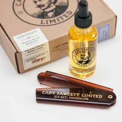 Подарочный набор Captain Fawcett Beard Oil (CF.332) & Folding Pocket Beard Comb (CF.82T)