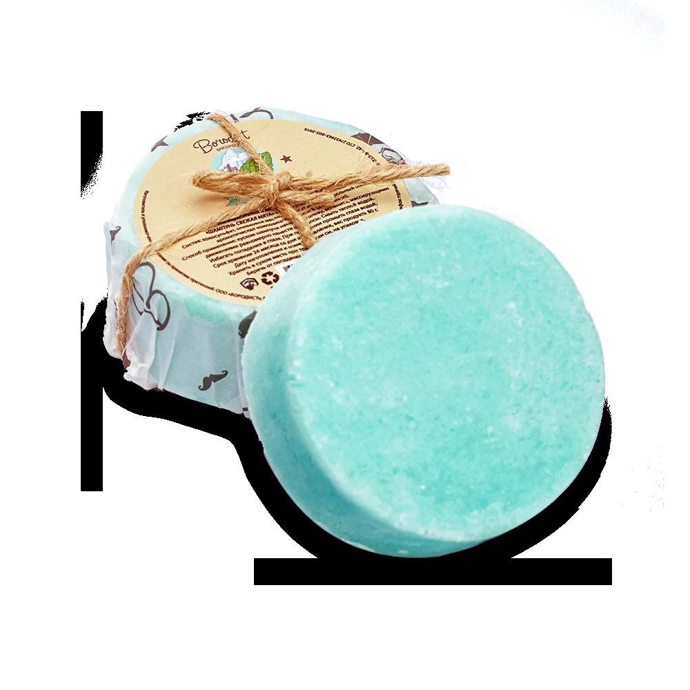 Borodist  - Твёрдый шампунь «Fresh Mint» 85 гр.