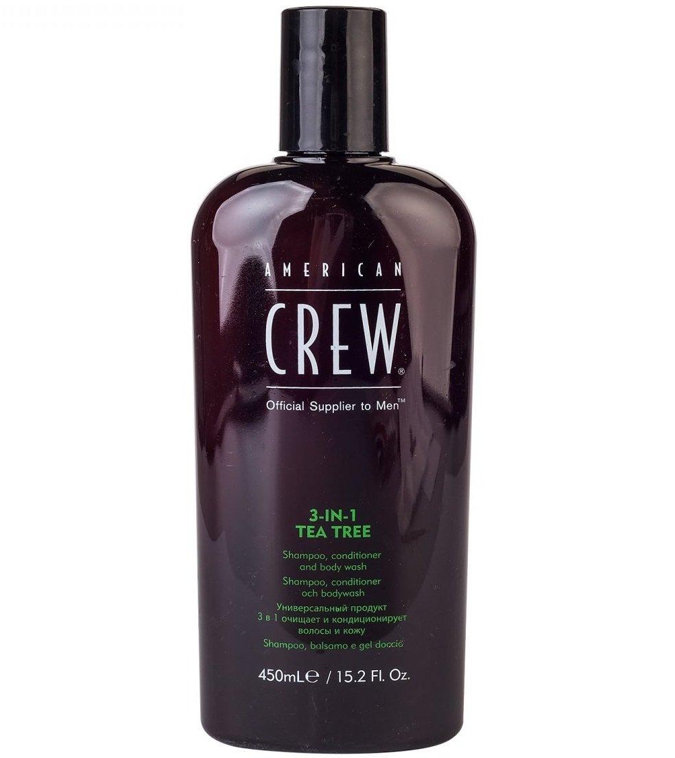 """American Crew """"Tea Tree"""" 3-in-1 — Шампунь, кондиционер и гель для душа 3 в 1, 450 мл"""