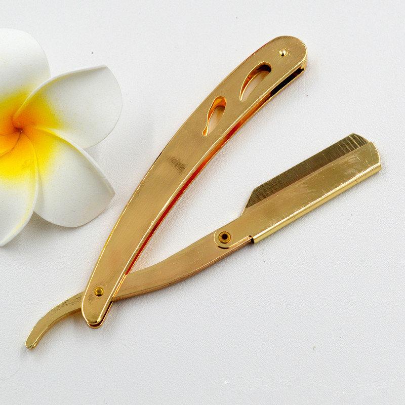 Бритва шавет со сменными лезвиями Shavette gold