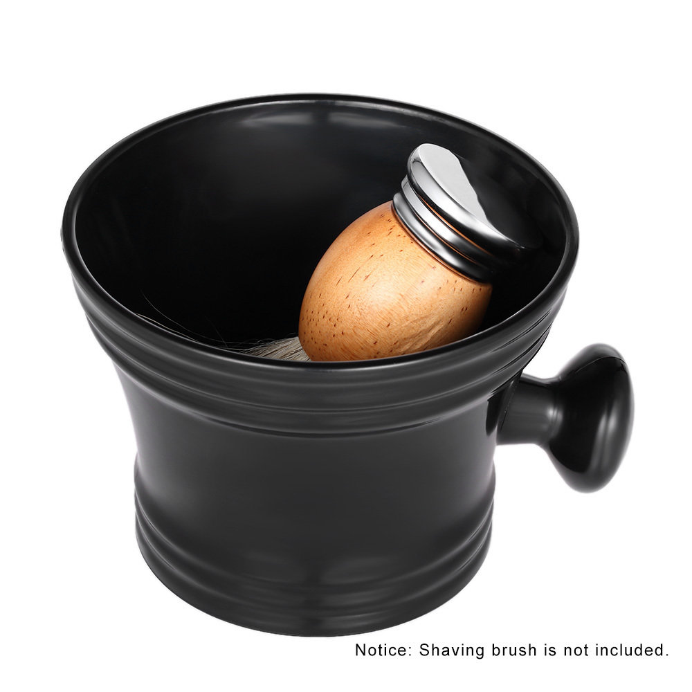 Чаша для бритья черная, пластик