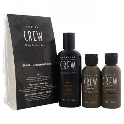 American CREW Дорожный набор для бритья 3-в-1 Travel Grooming Kit