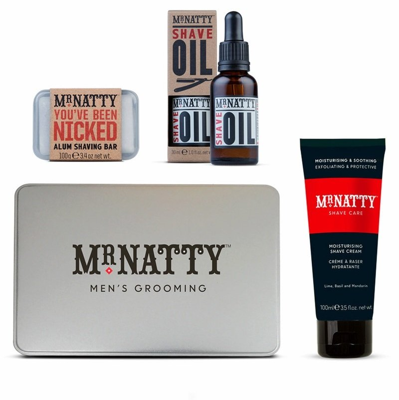 Mr.Natty Uplimate Shave Tin - Набор для бритья