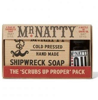 Mr.Natty Shipwreck Soap & Shave Oil - Набор для бритья