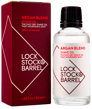 Lock Stock & Barrel Argan Blend Shave Oil - Универсальное Аргановое масло для бритья и ухода за бородой, 50 мл