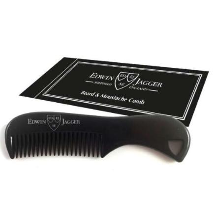 Расческа для бороды и усов черная Edwin Jagger Black Beard & Moustache Comb