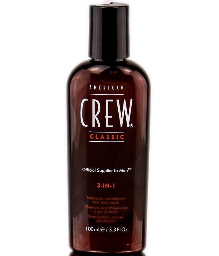 American Crew Classic 3-in-1 - Шампунь, кондиционер и гель для душа 3 в 1 100 мл