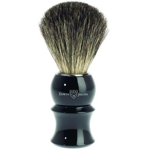 Edwin Jagger 81P16 Imitation Ebony - Помазок черная смола барсучий ворс