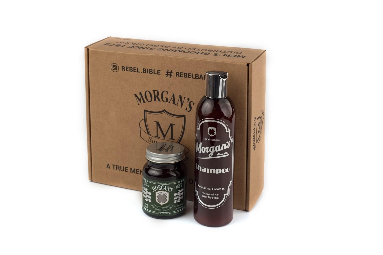 Morgans Подарочный набор шампунь + матовая помада для укладки